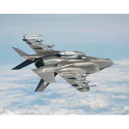 Acrylic Face Mounted Prints Military Jet Flying F-35b Flight Print 20 x 16. Worry Free Wall Installation - Shadow Mount is Included.](Flying Jets)