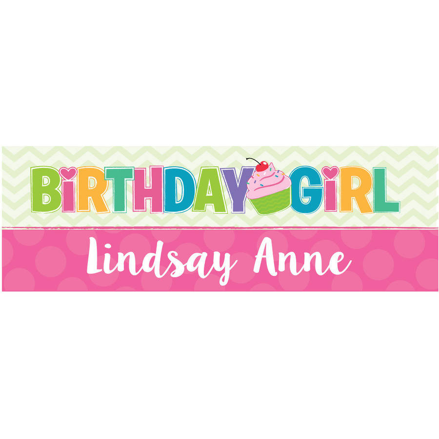 Birthday Girl Personalized Banner