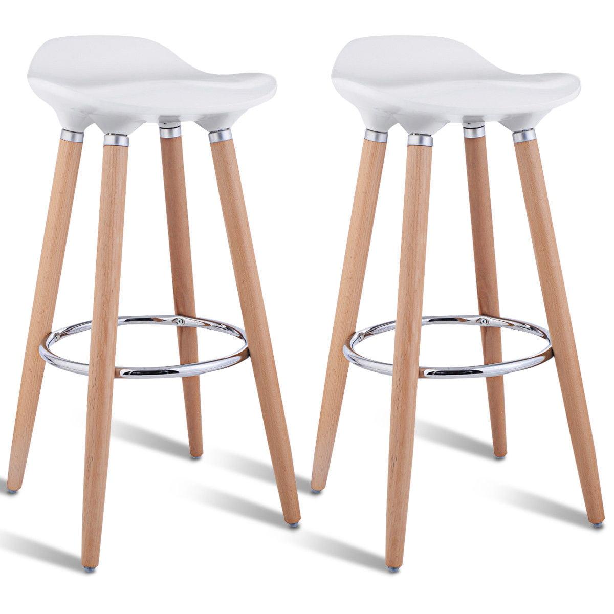 costway set of 2 abs bar stool breakfast barstool w