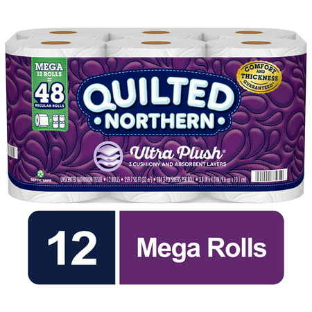 Quilted Northern Ultra Plush Toilet Paper, 12 Mega Rolls