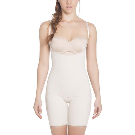 38e75779ab Sil- E6027-Nu-L Invisible Slimming Braless Mid-Thigh Body Shaper with ...