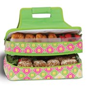 Picnic Plus Entertainer Green Gazebo Hot and Cold Food Cooler Carrier