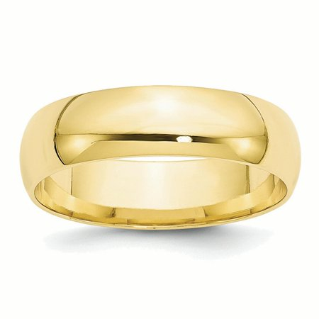 Lex & Lu 10k Yellow Gold 6mm LTW Comfort Fit Band Ring Comfort Fit Rope Ring