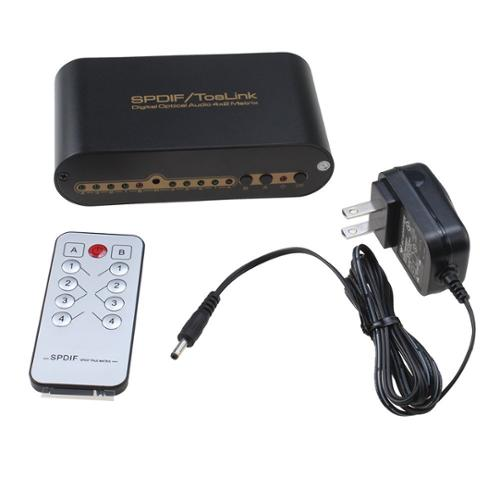AGPtek Optical Audio True Matrix 4x2 Support DTS-HD/Dolby-true HD/LPCM2.0/DTS/Dolby-AC3/DSD