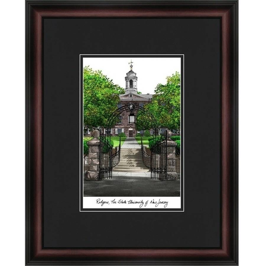 Rutgers University, The State University of New Jersey Academic Framed Lithograph