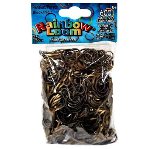 Rainbow Loom Persian Black Rubber Bands Refill Pack [600 ct]