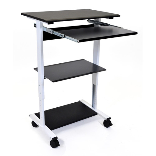 Luxor STAND-WS30 Mobile 3-Shelf Adjustable Standup Workstation