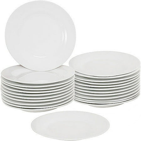White Plate Set (10 Strawberry Street 7.5