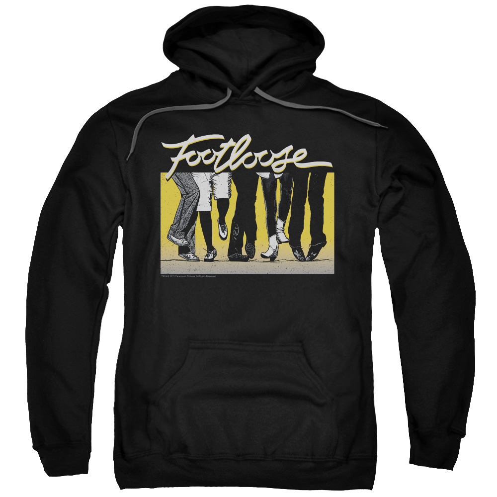 Footloose Men's  Dance Party Hooded Sweatshirt Black