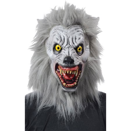Morris Costumes Halloween Horror Albino Werewolf Mask One Size