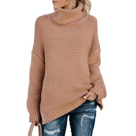 30118e1455 Nicesee Women Winter Warm High Neck Kint Sweater