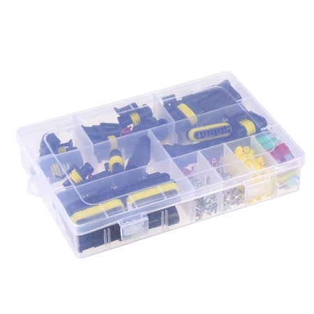 240pcs Waterproof Electrical Wire Connector Terminals Automotive Mini Blade Fuses Kit for Motorcycle Scooter Car Truck Marine Boats ()