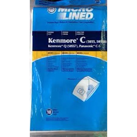 9 Vacuum Cleaner Bags for Sears Kenmore 5055 50557 50558 Panasonic C-5 C5 C