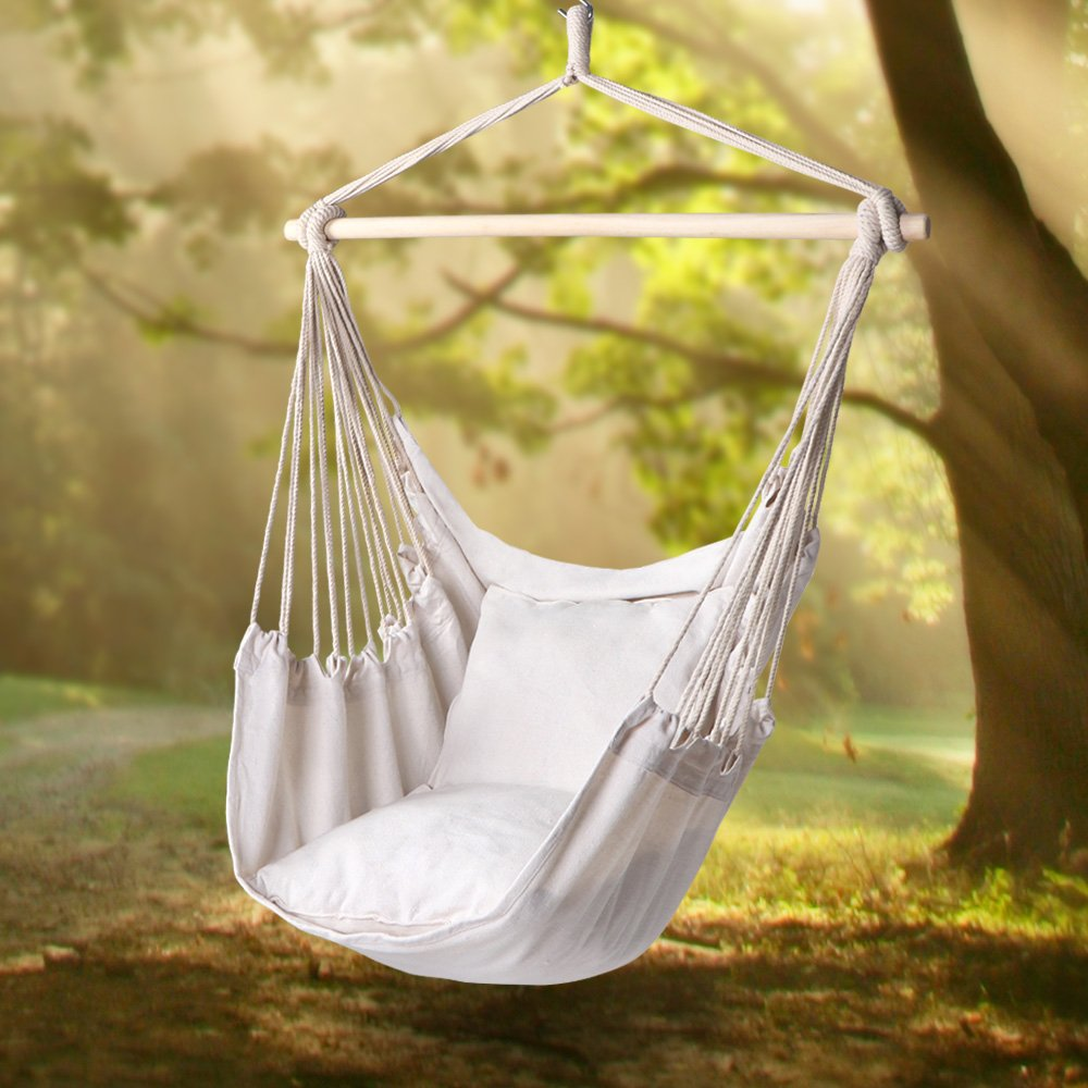 Ktaxon Chair Hanging Rope Swing Hammock Outdoor Porch