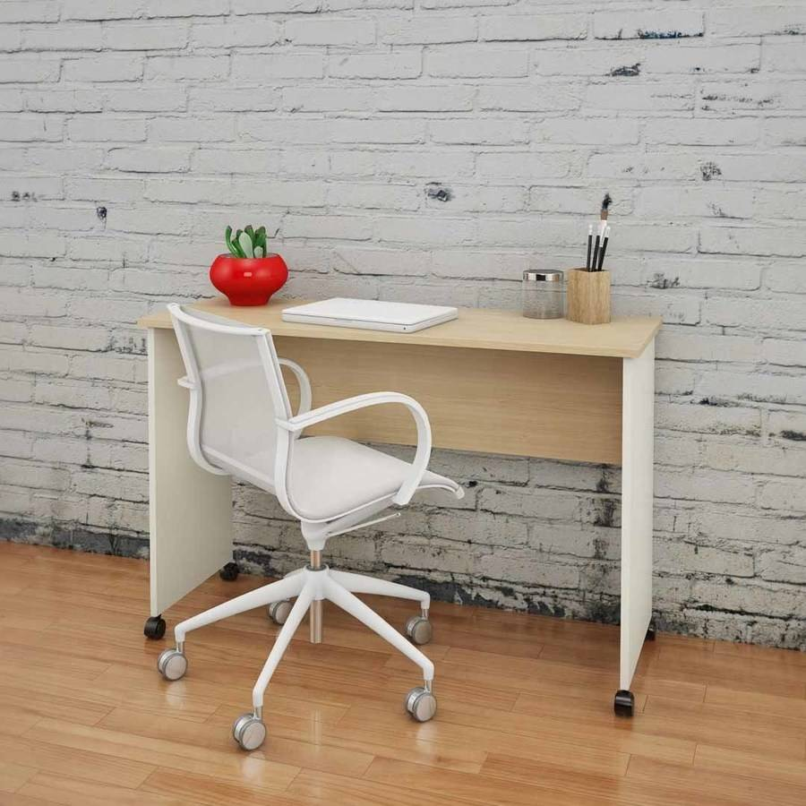 Nexera Atelier Mobile Work Surface, Natural Maple and Ivory