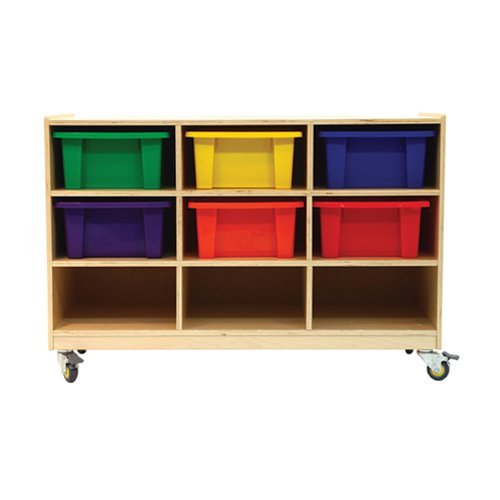 A+ Childsupply 9 Bin Storage Cubbies with Casters