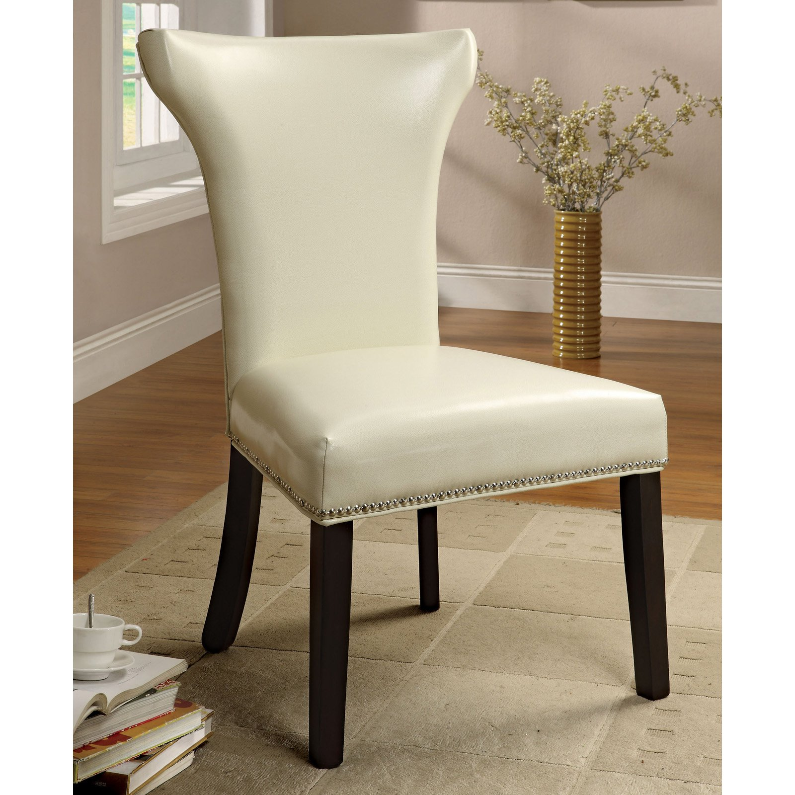 America Accent Chairs.Furniture Of America Renoir Leatherette Accent Chairs Set Of 2