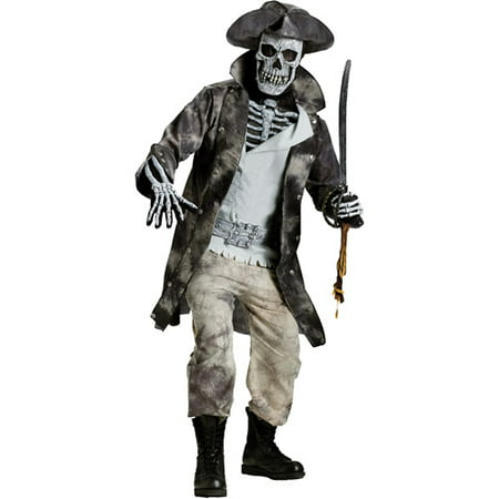Ghost Pirate Adult Halloween Costume, Size: Up to 200 lbs - One Size](Halloween Ghost Pirate Makeup)