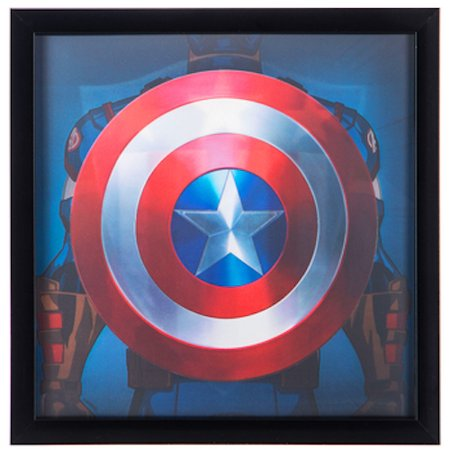 Captain America Decorations (Captain America 3D Framed Wall Decor Home Decoration Media Room Man)