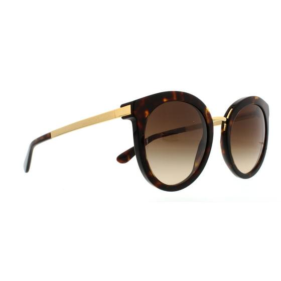 Dolce Gabbana Women S Grant Dg4268 502 13 52 Brown Round Sungles