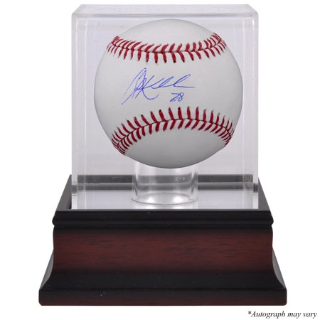 (Corey Kluber Cleveland Indians Fanatics Authentic Autographed Baseball and Mahogany Baseball Display Case - No Size)