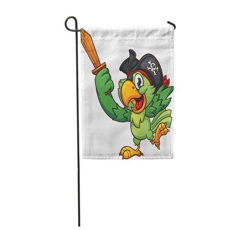 JSDART Pirate Parrot Holding Wooden Sword Clip Simple Gradients All Garden Flag Decorative Flag House Banner 12x18 inch - image 1 of 1