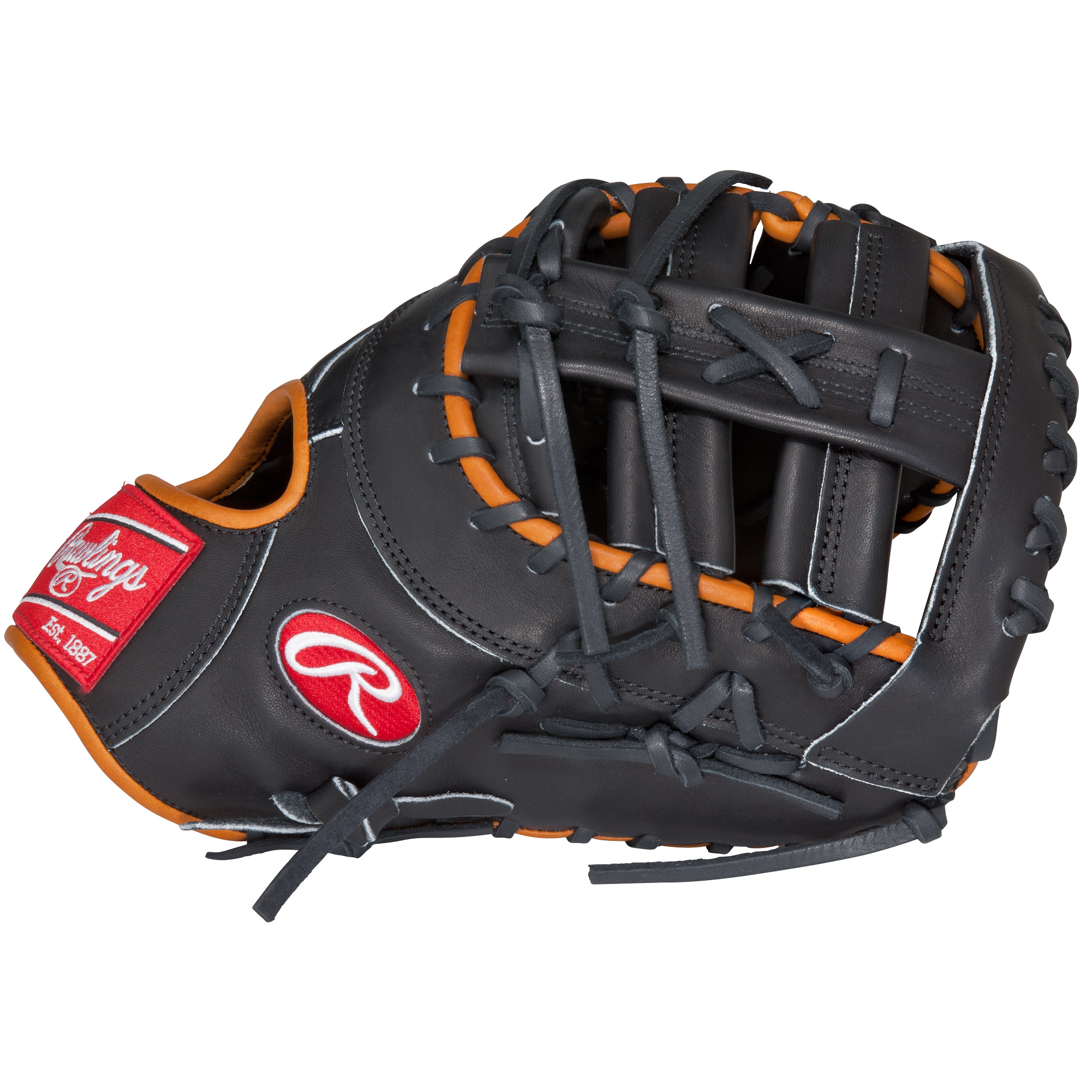Rawlings Heart of the Hide 13 Inch First Base Mitt Adult Baseball Glove, Black by Rawlings