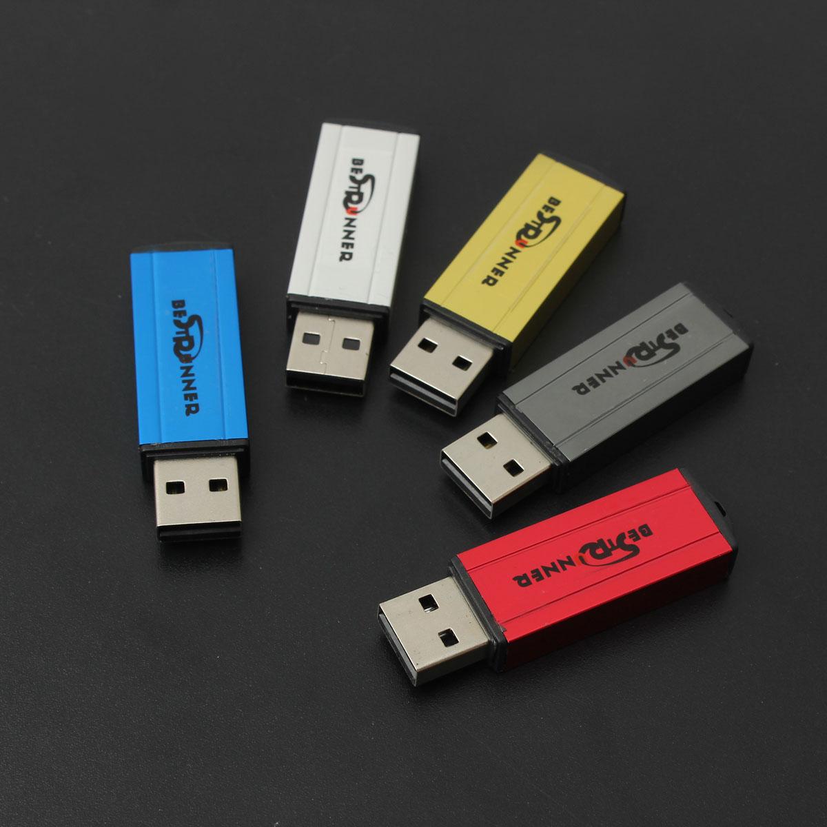 BESTRUNNER 32GB Square Shaped USB 2.0 Flash Drive Stick Memory Thumb Pen Storage U-Disk Multi Color