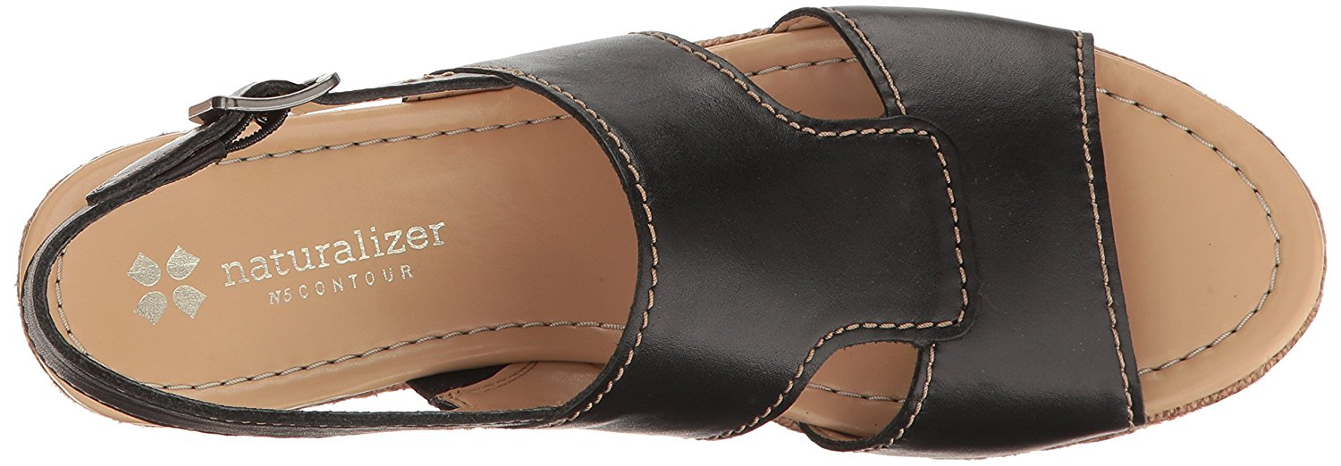 Naturalizer Womens Reese Leather Open Toe Casual Flat Sandals
