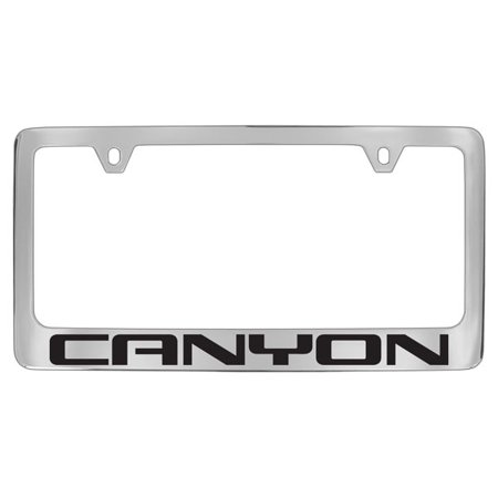 Gmc Canyon Chrome Plated Metal License Plate Frame Holder