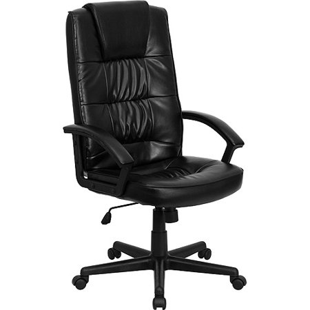 Leather Executive High Back Office Chair Black