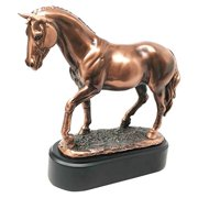 Farm Country Horse Family Mare and Foal Bronze Electroplated Figurine Statue