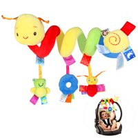 Pixnor Multifunctional Funny Pram Hanging With Spiral Toy Car Seat Toy Ringing Bell for Baby