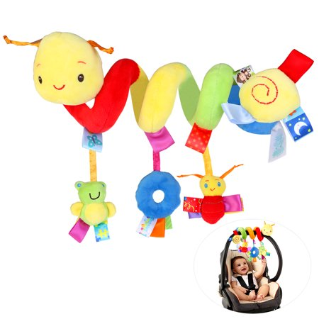 Pixnor Multifunctional Funny Pram Hanging With Spiral Toy Car Seat Toy Ringing Bell for