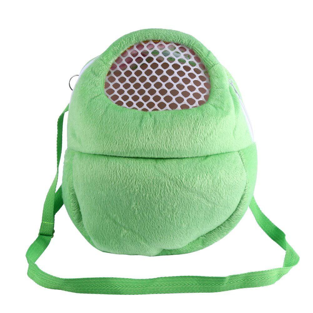EECOO Breathable Shoulder Strap Portable Travel Handbag Backpack Small Pet Carrier Bag Animal Outgoing Bag for Hedgehog Hamster Mouse Rat Sugar Glider Squirrel Chinchilla Rabbit, Green (M)
