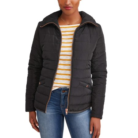 - JASON MAXWELL Women's Fitted Puffer Coat
