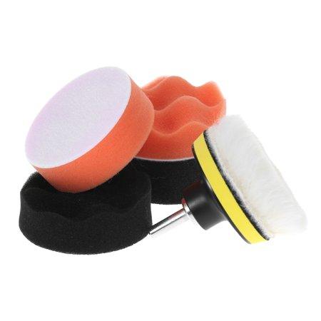 "7PCS Brand New 3"" 80mm Car Polishing Pads Waxing Buffing Pad Sponge Kit Set for Car Polisher Buffer Waxer Sander Polishing Waxing Sealing Glaze Including 4 Polishing Pads + 1 Woolen Buffer + 1 Adhes - image 4 of 7"