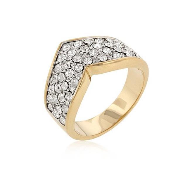 Icon Bijoux R08128T-C02-05 Chevron Pave Crystal Ring (Size: 05)