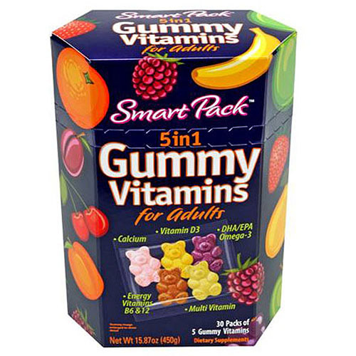 Smart Pack Gummy Vitamins for Adults, 30ct