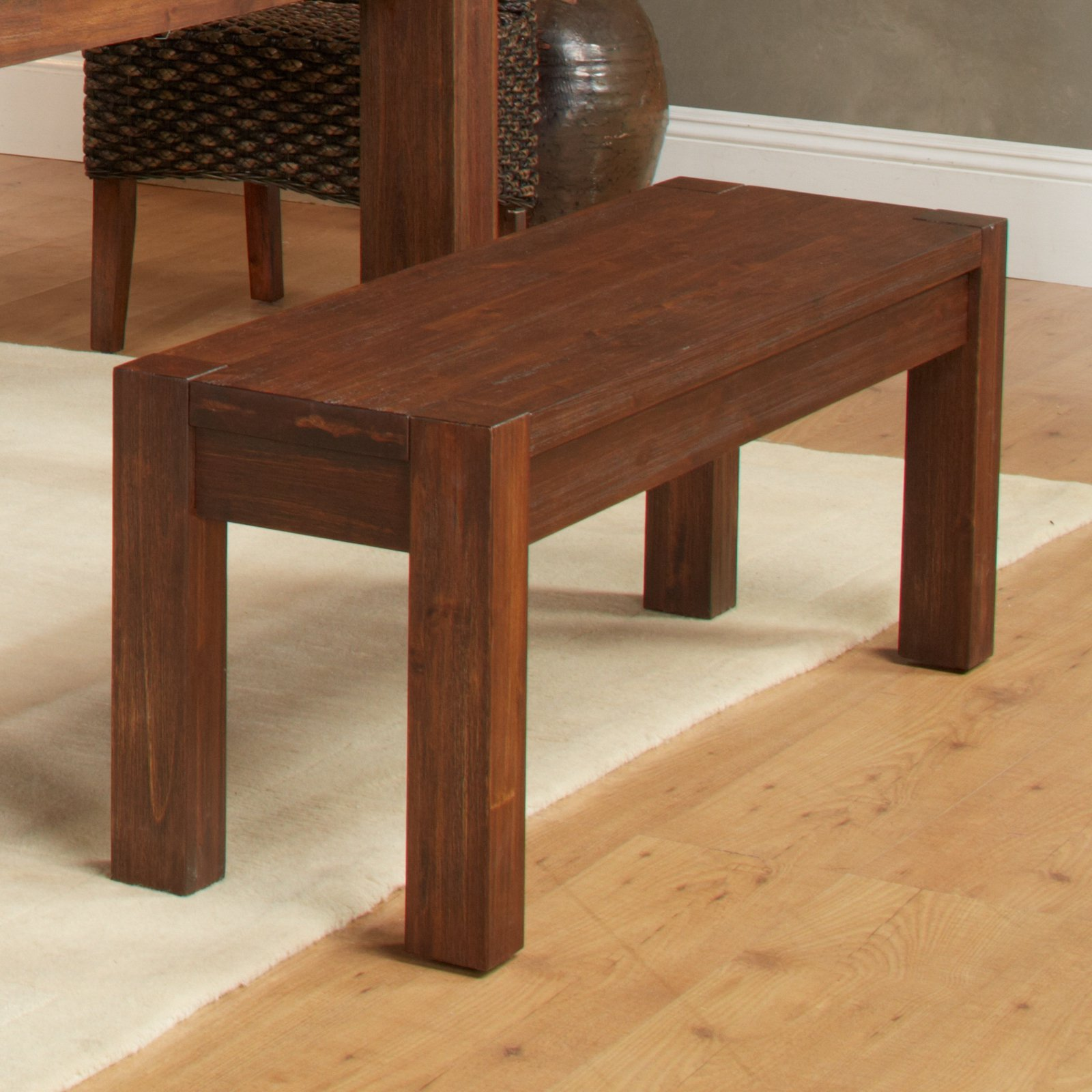 Modus Meadow Solid Wood Dining Bench Brick Brown by Modus Furniture International
