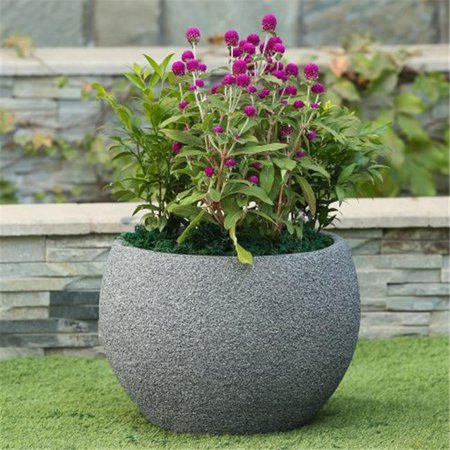 Round Bowl Stone Finish Planter Walmart Canada