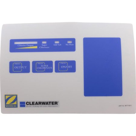 Touch Pad Label, Zodiac Clearwater LM2 Series (Lm2 Series)