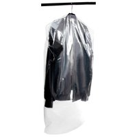 Juvale Dry Cleaner Bags - 50-Pack Garment Dry Cleaning Cover Bags - Gusseted Hanger Bags for Bulky Clothes, 39.7  21.3 Inches, 4 Inches of Gusset