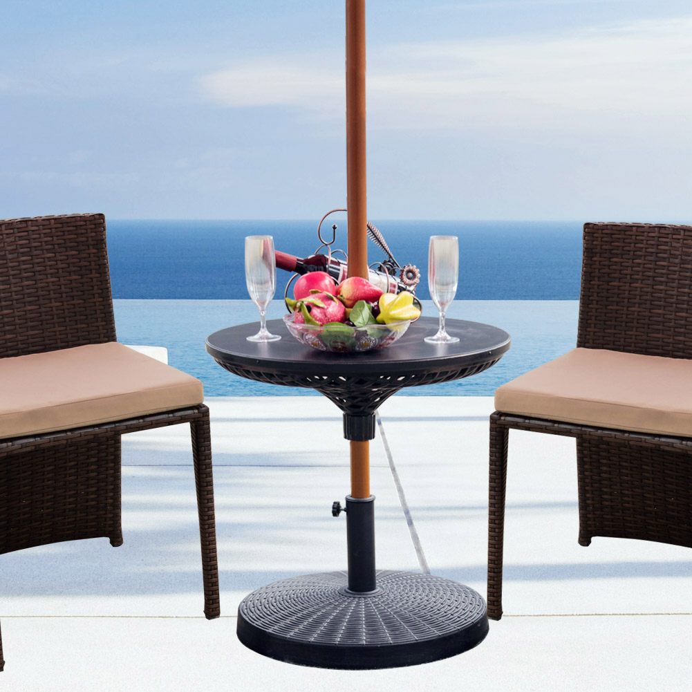 Sundale Outdoor Adjustable All Weather Umbrella Table Beach Patio  Garden Accessory