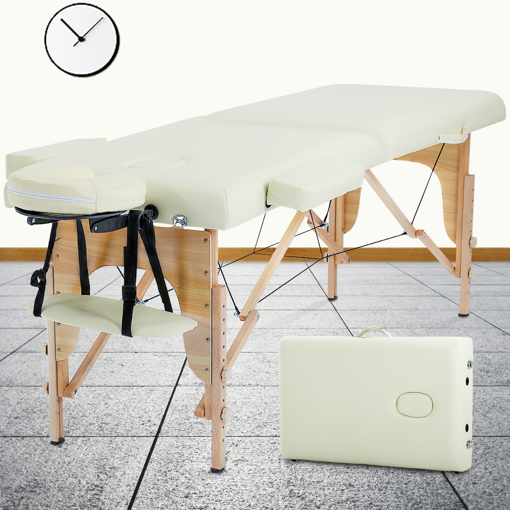 "Massage Table Massage Bed Spa Bed 73"" Long 2 Folding Portable Massage Table W/ Carry Case Heigh Adjustable Salon Bed Face Cradle Bed"