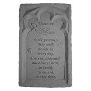 Those We Love Don't Go Away Memorial Stone - Gothic Trinity Design