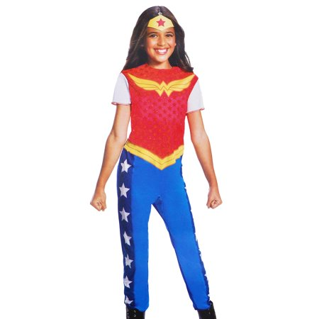DC Superhero Girls Wonder Woman Costume & Tiara Size Large (12/14)](Girl Superheroes Costumes)
