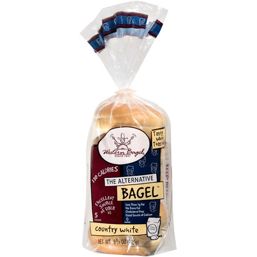 Western Bagel Country White Bagels, 5 count, 10 oz