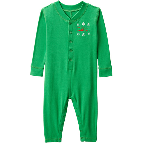 Personalized Toddler Christmas Ruffle Long John