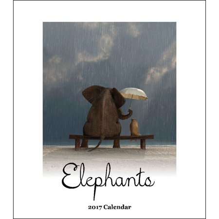 Elephants Desk Calendar  2017 Wildlife By Retrospect Group